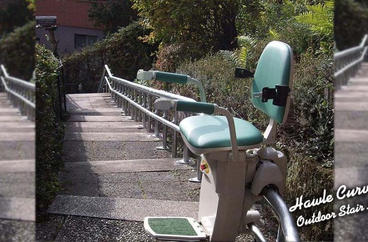 Hawle curved outdoor stairlift