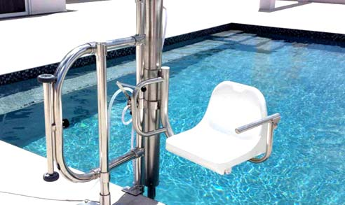 Dolphin Pool lifts for disable and wheelchair users