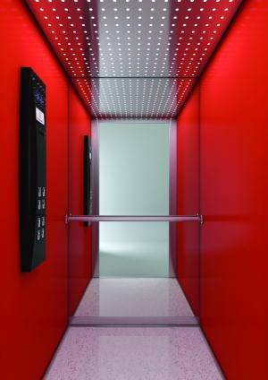Futuristic elevator cabin