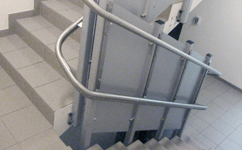 safety panels for wheelchair lift
