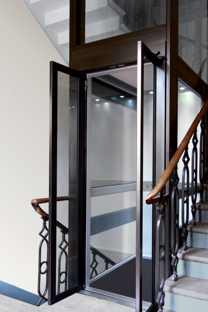 home lift of linea door type