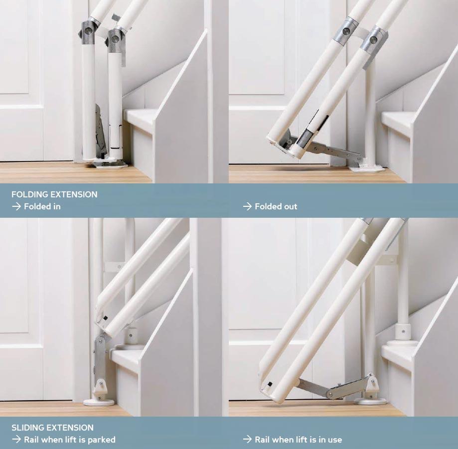 Stairlift railings