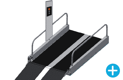 Wheelchair lift control pillar