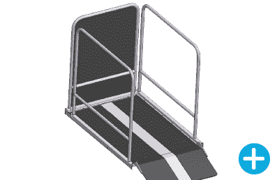 Wheelchair Lift Gate For Upper Level