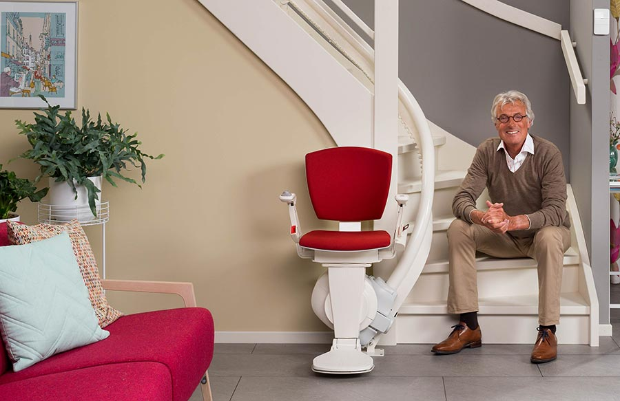 otolift curved stairlift