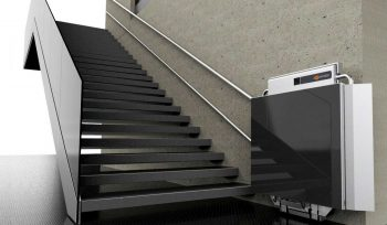 Ascendor stairlift for wheelchair