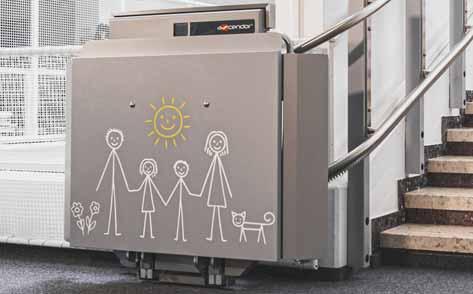 Ascendor Platform Wheelchair lift branding