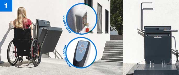 Using Ascendor Platform Lift Step1