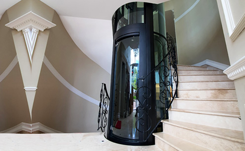 Rounded home lift