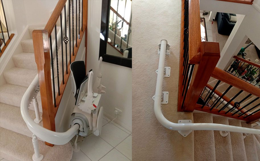 stairlift price for curved stairlifts in Australia